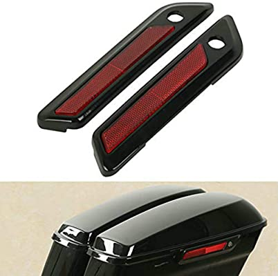 XMT-MOTO Saddlebag Saddle Bag Hinge Latch Covers fits for Harley Davidson Touring Road King Electra Glide Street Glide 2014-2020