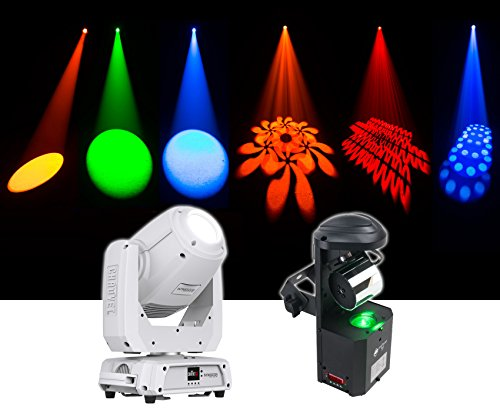 Chauvet DJ Intimidator Spot 375Z IRC LED Moving Head Light + ADJ Scanner - Moving Scanner Head