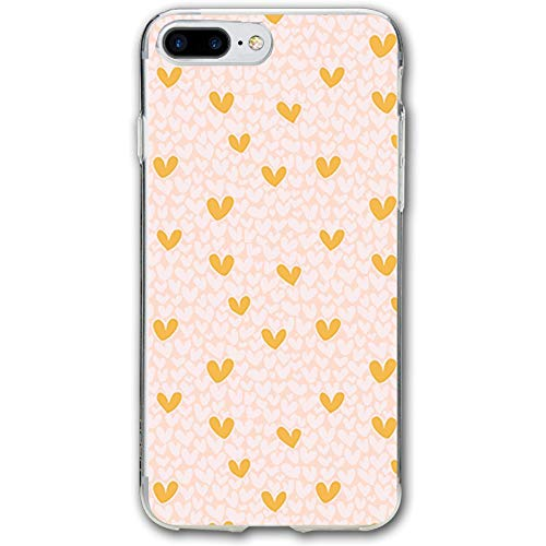 Pink Gold Hearts Shop Preview Resistant Cover Case Compatible iPhone 7 Plus iPhone 6 Plus 5.5IN -