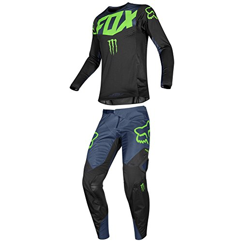 Fox Racing 2019 360 Pro Circuit Jersey and Pants Combo Offroad Gear Adult Mens Black Large Jersey/Pants 36W