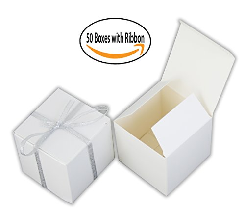 Small Gift Boxes Party Favor WHITE (2