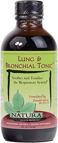Natura Health Products - Lung & Bronchial Tonic - Herbal Syrup Soothes the Throat and Promotes Respiratory Health - 4 Fluid Ounces (118 ML)