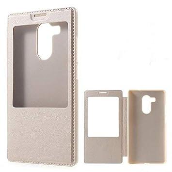 QAWACHH Huawei Mate 8 flip Cover Smart (Sensor) (Gold Colour) NXT-L29