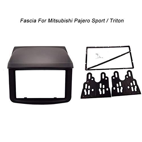 2 Din Fascia for Mitsubishi Pajero Sport Triton L200 Radio DVD Stereo Panel Dash Mounting Installation Trim Kit Face Frame 178X100mm