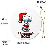 Glightor 2020 Christmas Ornament Quarantine, 10 Pcs