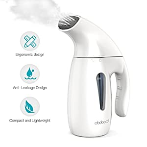 Clothes Steamer, White,7-1 Classic Family Use Garment Steamer Portable Handheld Fabric Steamer Iron for Home and Travel…