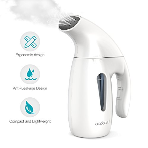 dodocool Steamer For Clothes, 5-in-1 Clothes Steamer,Garment Steamer,Fabric Steamer,Travel Steamer,Handheld Steamer Powerful Steamer Wrinkle Remover With Automatic Shut-Off Safety Protection-180ML by dodocool