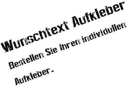 Stickerjunkies Wunschtext Aufkleber Auto Boot Haus Wetterfest Auto