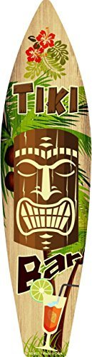 Smart Blonde Tiki Bar Metal Novelty Surf Board Sign -
