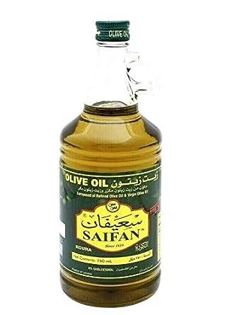 Amazon Com Saifan Premium Extra Virgin Olive Oil Product Of Lebanon Single Bottle 25 36oz 750ml زيت زيتون سعيفان بكر ممتاز Grocery Gourmet Food