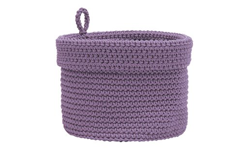 (Heritage Lace Mode Crochet Basket with Loop, 10 x 10, Lavender)