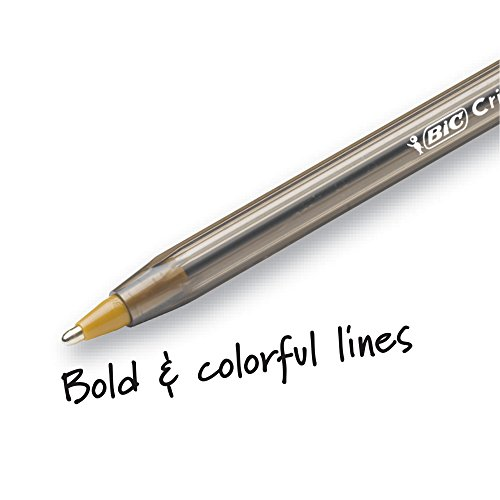 BIC MSBAPP241-A-AST Cristal Xtra Bold Fashion Ballpoint Pen, Bold Point (1.6mm), Assorted Colors, 24-Count by BIC (Image #1)
