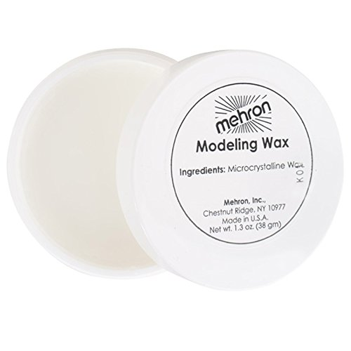 [mehron Modeling Wax - White - 38G - Putty - Effects Make-Up] (Costume Makeup Wax)