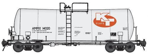 40' UTLX 16,000-Gallon Funnel-Flow Tank Car - Ready to Run -- KT Clays AMMX #14020 (white, - Funnel Run 16000 Gallon