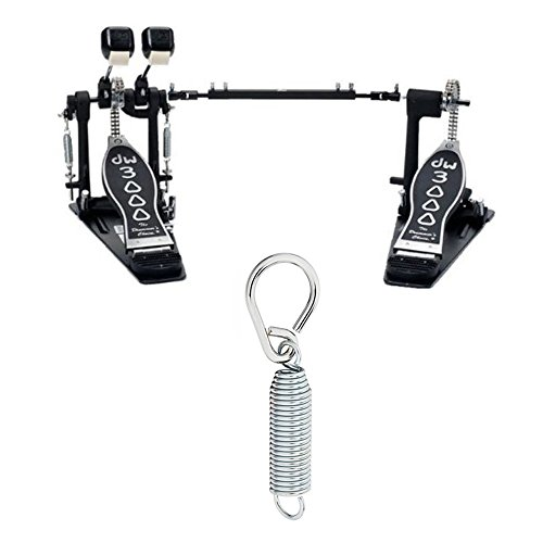 Drum Workshop DWCP3002L Lefty Double Bass Pedal Deluxe Bundle Includes 2 Flyweight Beaters, 2 Spring with Felts Inserts, 2 Drum Key Screws and Rocker Assembly with Bearing (K2 Insert Screw Kit)
