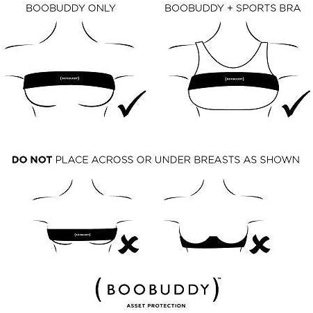 Beige Boobuddy Adjustable Breast Support Band Sports Bra Alternative