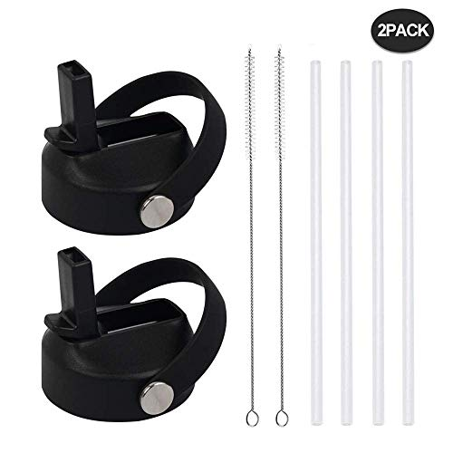 Wide Mouth Straw Lids for Hydro Flask 12 16 18 20 24 32 40 64 Ounce, Flex Straw Lid Fits Hydroflask and Most Brand, Wide…