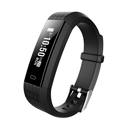 GIMTVTION ZY68 Fitness Tracker,Bluetooth Heart Rate Monitor Smartwatch Step Walking Sleep Counter Wireless Smart Wristband Pedometer Sweatproof Sports Bracelet for IOS Android System (Black)