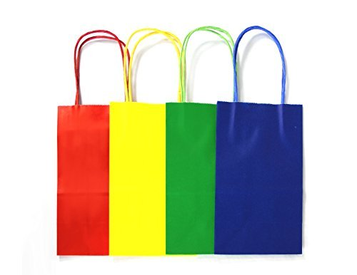 Coloured Paper Gift Bags With Handles - 4