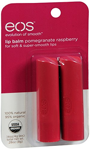eos Organic Stick Lip Balm - Pomegranate Raspberry | Certified Organic & 100% Natural | 0.14 (Pomegranate Lip Butter)