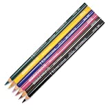 AMACO Underglaze Decorating Pencils with Case, Assorted Colors, Pack of 6