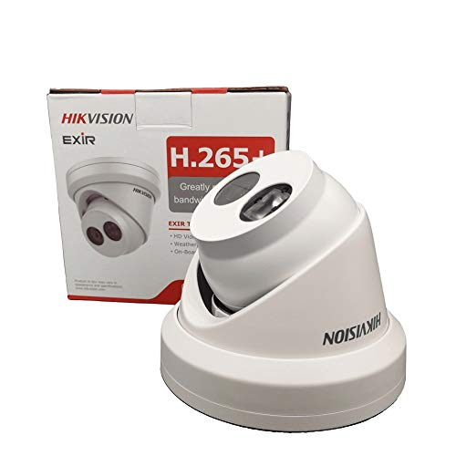Hikvision 2.8mm 8MP IP Camera DS-2CD2385FWD-I Network Dome Camera H.265 High Resolution CCTV Camera with SD Card Slot IP67 ()