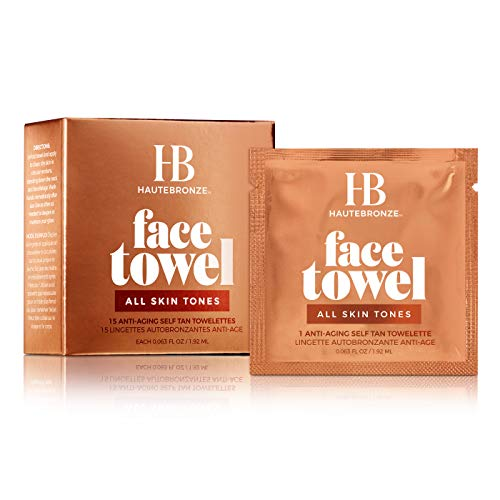 - Face Tan Towels All Skin Tones - Fair to Medium to Dark - Self Tanning Wipes 15 pack - Sunless Anti-Aging Tanning Towelettes Provide a Steak-Free Flawless Application
