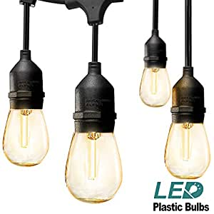Amazon Com Addlon Led Outdoor String Lights 48ft With