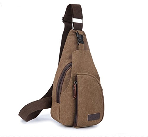 Shoulder Coffee MiCoolker Small Military Crossbody Messenger Bag Canvas UF1qT