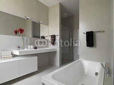 Bagno Moderno Con Vasca E Box Doccia In Muratura 43295425