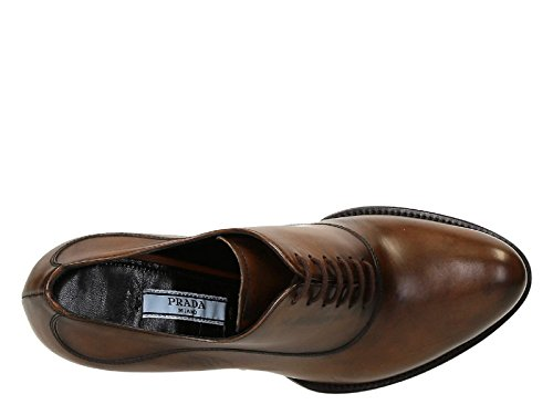 Prada zapatos de tacón alto con cordones en Brandy Calf - Número de modelo: 1T156G 3M0L F0134 Aguardiente