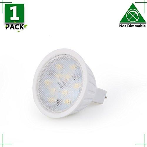 Spotlight Indoor Lighting MR16 LED Light Bulbs 45W Equivalent Halogen Replacement Daylight White 5000K 5W AC 12V 120 Degree Beam Angle Listed Spotlight with 450 Lumen 1 Packs