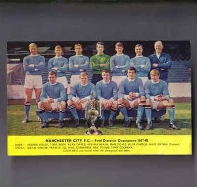 Manchester City 1967-68 League CHAMPIONS memorabilia retro football team picture