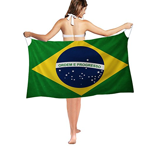 Nakgn Swimwear Cover up Beach Dress Wrap Brazil Flag - Womens Brazil Dress