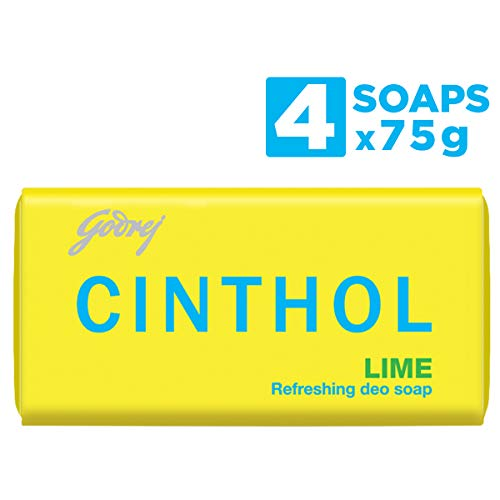 Cinthol Bath Soap, Lime, 75g (Pack of 4)
