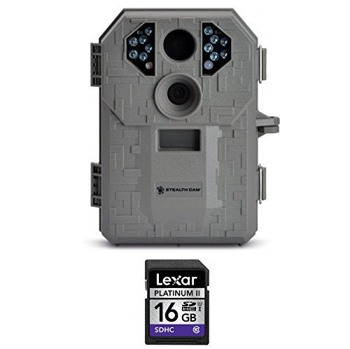 Stealth Cam STC-P12 6.0 Megapixel Digital Scouting Camera Tree Bark Right  Compatible High Speed Lexar Platinum II 16 GB Class 10 SD Card Bundle