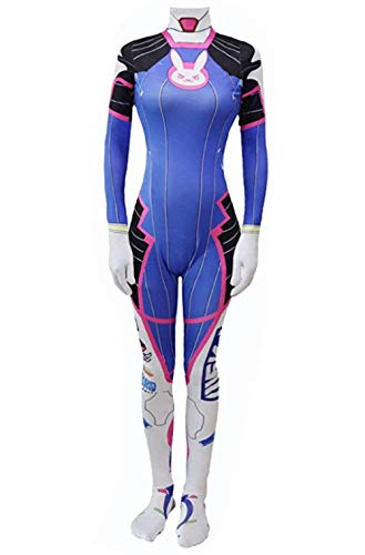 Taipin Overwatch dva Cosplay Costume for Womens and Child Blue