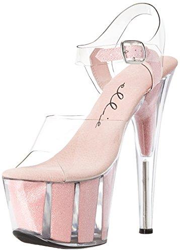 Ellie Shoes Women's 709-glitter, Pink, 6 M US