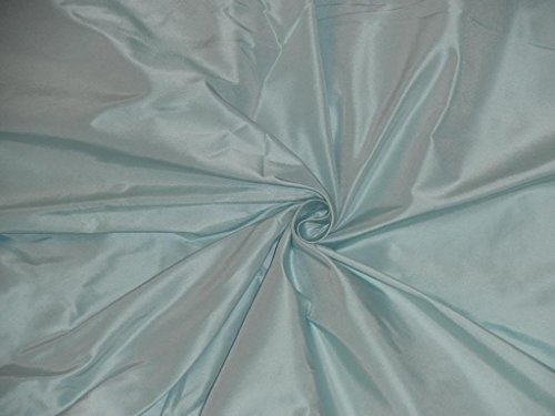 "Mint Green Iridescent Silk Taffeta, 100% Silk Fabric, By The Yard, 54"" Wide"
