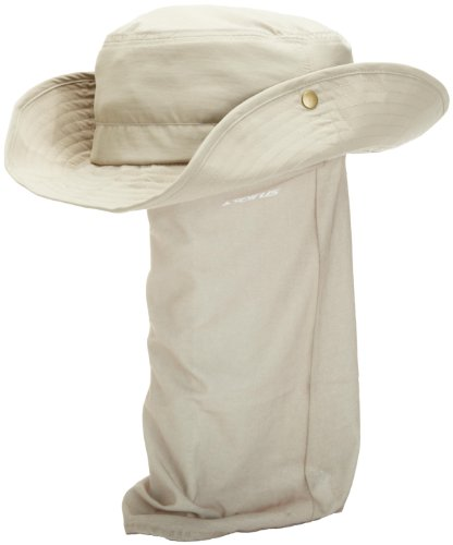 Seirus Innovations Quick Shade Floppy Hat with UV Protection for Head, Face, and Neck (Tan Solid, Small/Medium), Tan Solid, Small/Medium