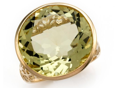 Effy Collection 14k Yellow Gold Lemon Quartz Ring