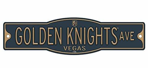 Las Vegas Knights 4'' x 17'' Plastic Street Sign NHL