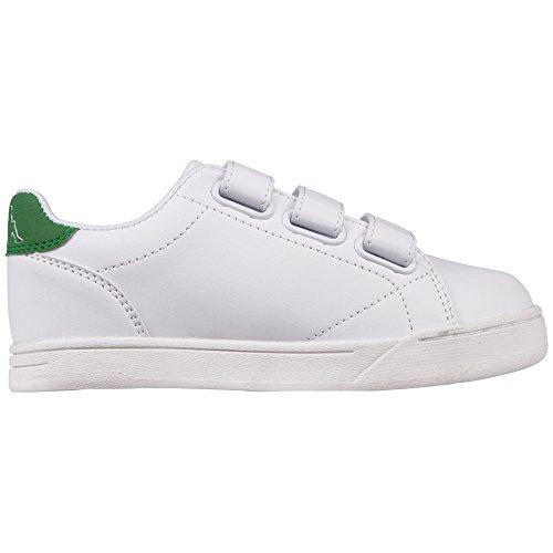 Kappa Court, Zapatillas Unisex Niños Blanco (1030 White/green)