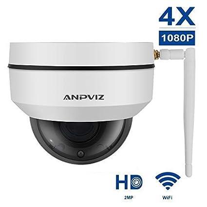 Cámara IP de WiFi IP PTZ Cámara de Seguridad 1080P 4X Zoom inalámbrico Cámara Interior /