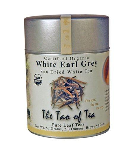 The Tao of Tea, White Earl Grey Sun-Dried White Tea, Loose Leaf, 2-Ounce Tins (Pack of 2)