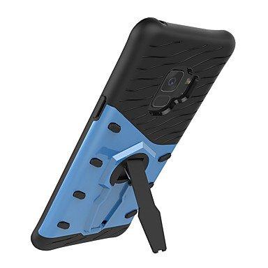 Casos hermosos, cubiertas, Funda Para Samsung S9 Plus S9 Antigolpes con Soporte Funda Trasera Color sólido Dura para S9 S9 Plus S8 Plus S8 S7 edge S7 S6 edge S6 ( Color : Azul , Modelos Compatibles :  Oro