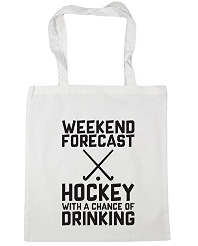 42cm Drinking Tote Beach Shopping Gym litres Chance a HippoWarehouse White Weekend With 10 Bag of Forecast x38cm Hockey 8OOqAR