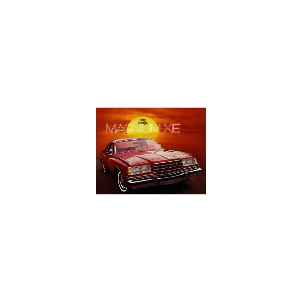 1978 Dodge Magnum Xe Sales Brochure Literature Advertisement Options Specs