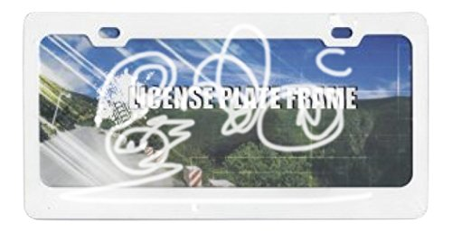 (Blank Smooth White 2 Hole Metal License Plate)