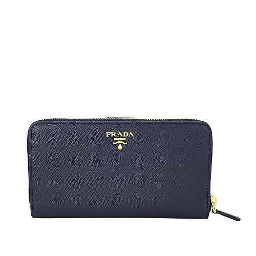 Prada Bi-fold Zip Saffiano Leather Continental Wallet - Baltico